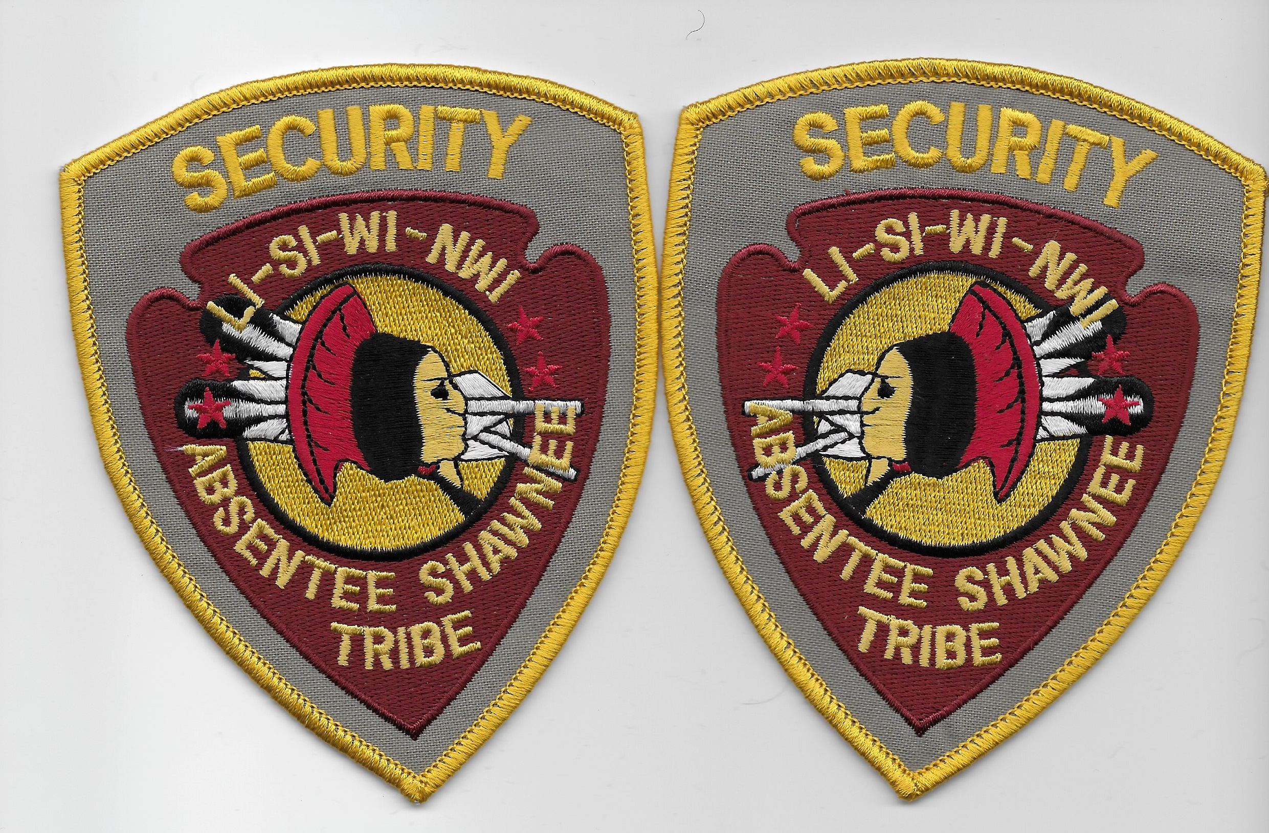Absentee Shawnee Tribal Security Mirrored Set OK