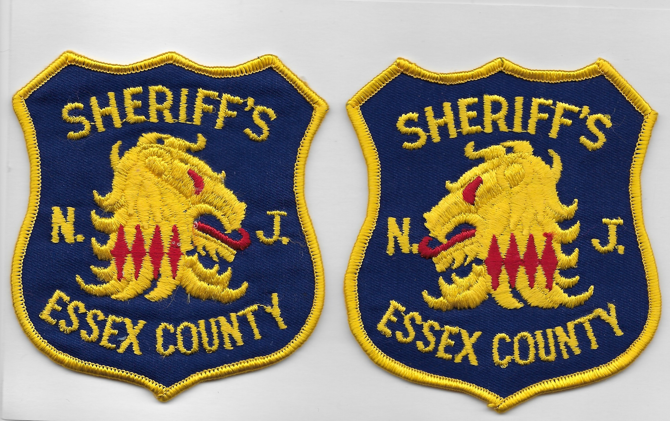 Essex County Sheriff NJ Mirrored Set