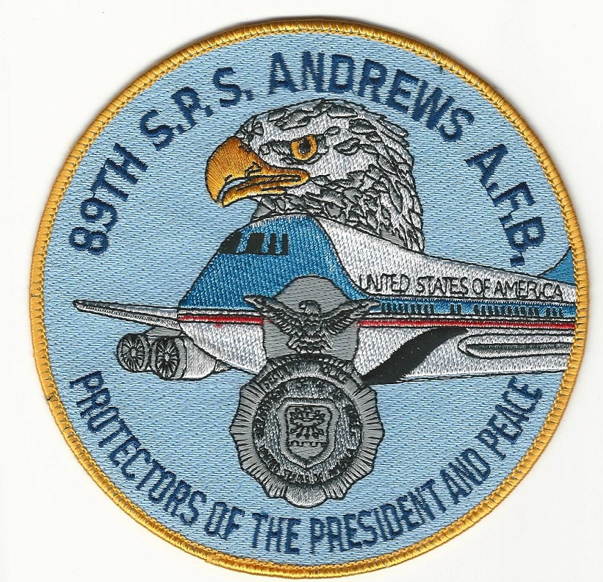 Andrews AFB 89th SPS patch Air Force 1