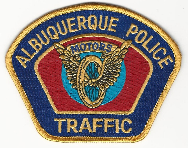 Albuquerque POlice Gold Blue Motors Unit patch