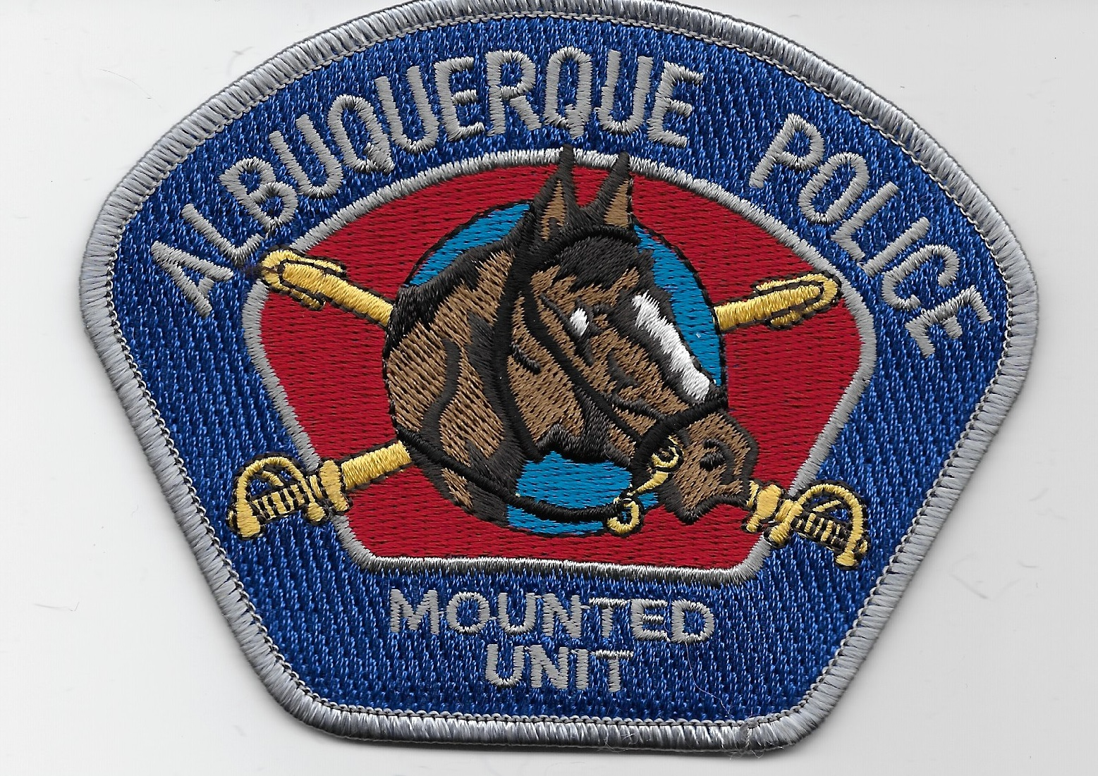 Albuquerque Police Mounted Silver NM