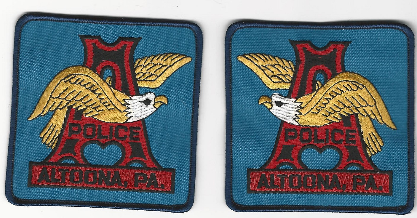 Altoona Police Pennsylvania Mirrored Set