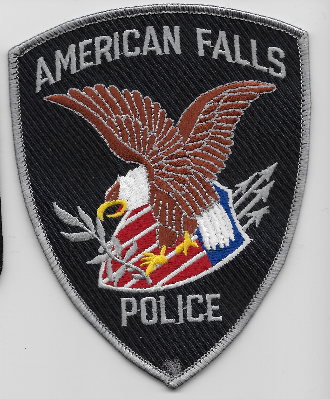 American Falls Police ID Gray patch