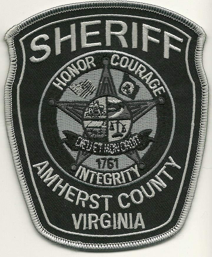 Amherst County Sheriff SWAT SRT Subdued State Virginia VA patch