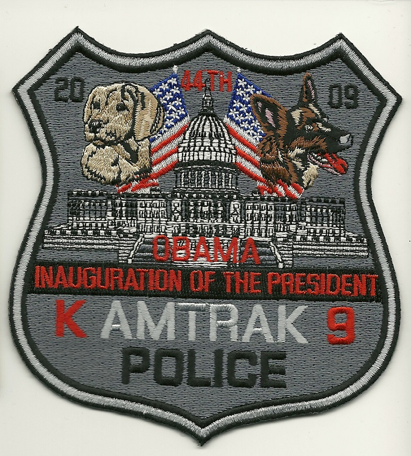 Railroad Inaguration k9 k-9 police Railroad patch