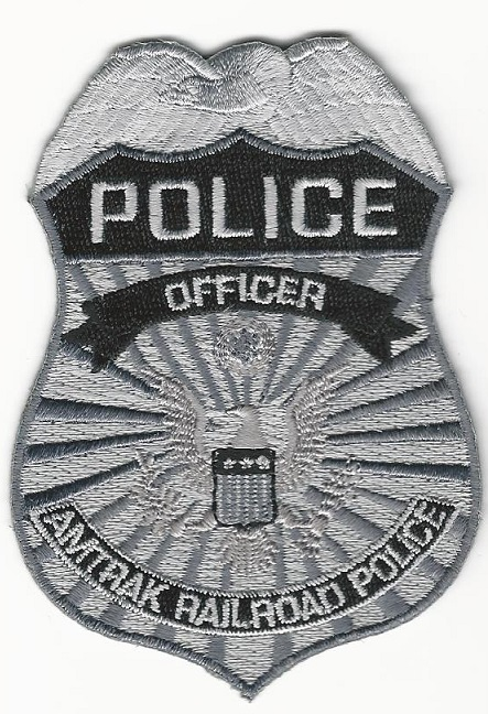 Railroad Railway Police Officer Gray Badge Patch