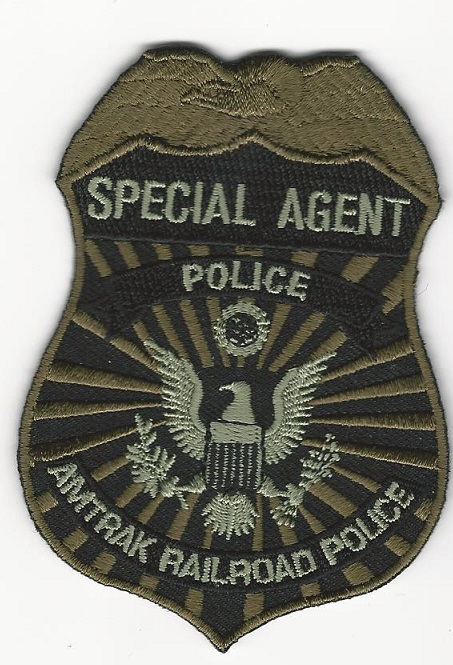 Railroad Police Special Agent badge patch Green