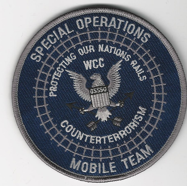 Railroad Police Special Ops Counter Terror WCC patch BLUE