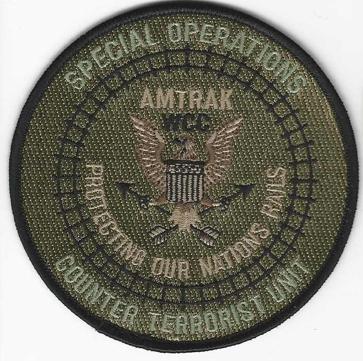 Railroad Police Special Ops Counter Terror WCC patch Green