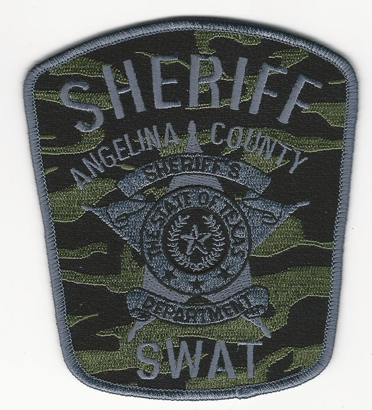Angelina County Sheriff Camo SWAT SRT patch