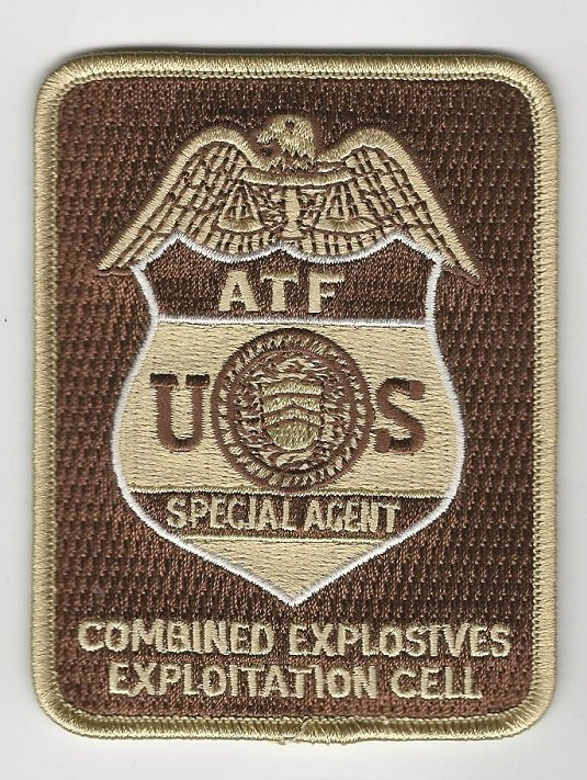 ATF EOD Bomb Squad TAN patch CEEC