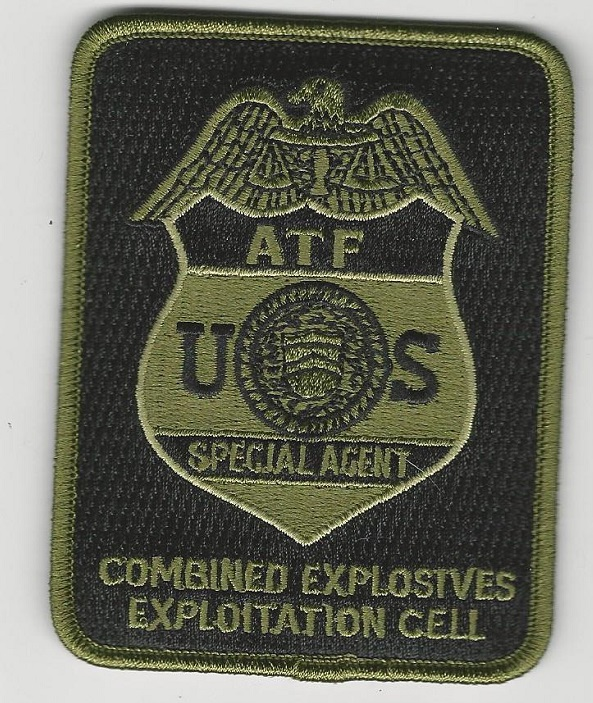 ATF EOD Bomb Squad Green patch CEEC