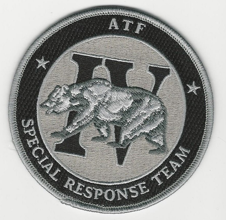 ATF SWAT SRT Subdued Bear patch GRAY