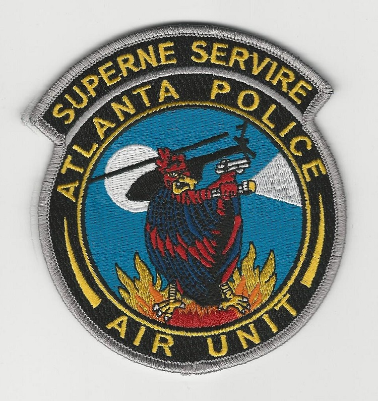 Atlanta Police Aviation patch Georgia gray