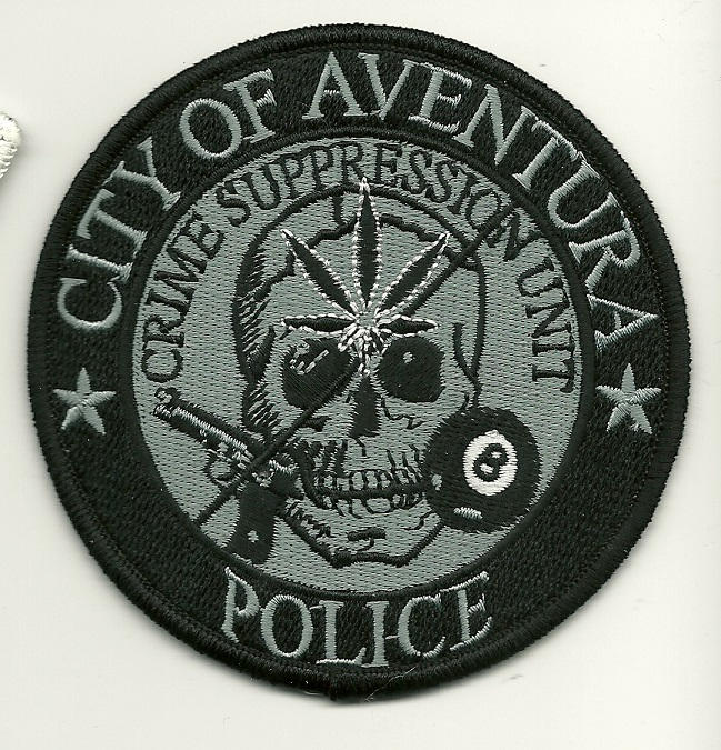 Aventura Police Crime Supresion Tactical patch