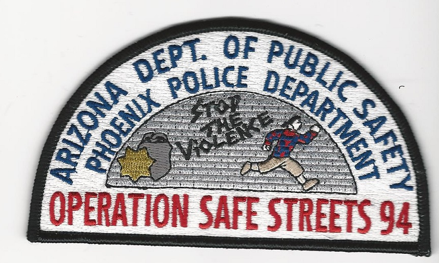 Arizona Highway Patrol State Police Phoenix PD OP Safe Streets 1994