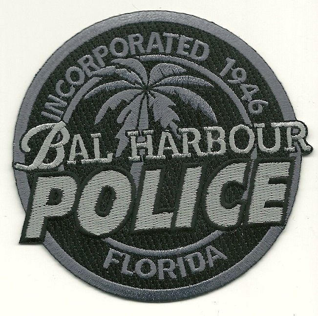 Bal Harbour POlice Subdued patch State Florida