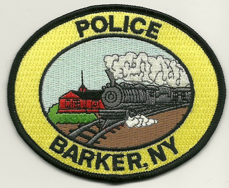 Barker POlice State New York NY Train patch