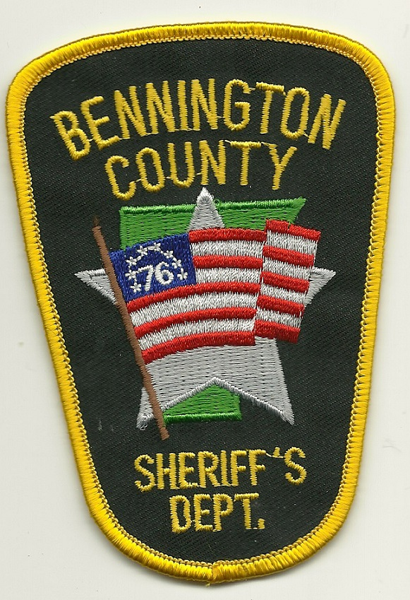 Bennington County Sheriff State Vermont VT FLAG patch