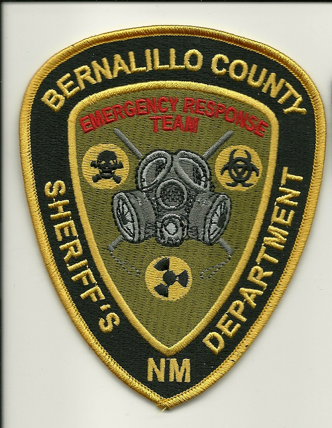 Bernallillo County Sheriff Emergency Response Team SWAT Gas Mask Patch