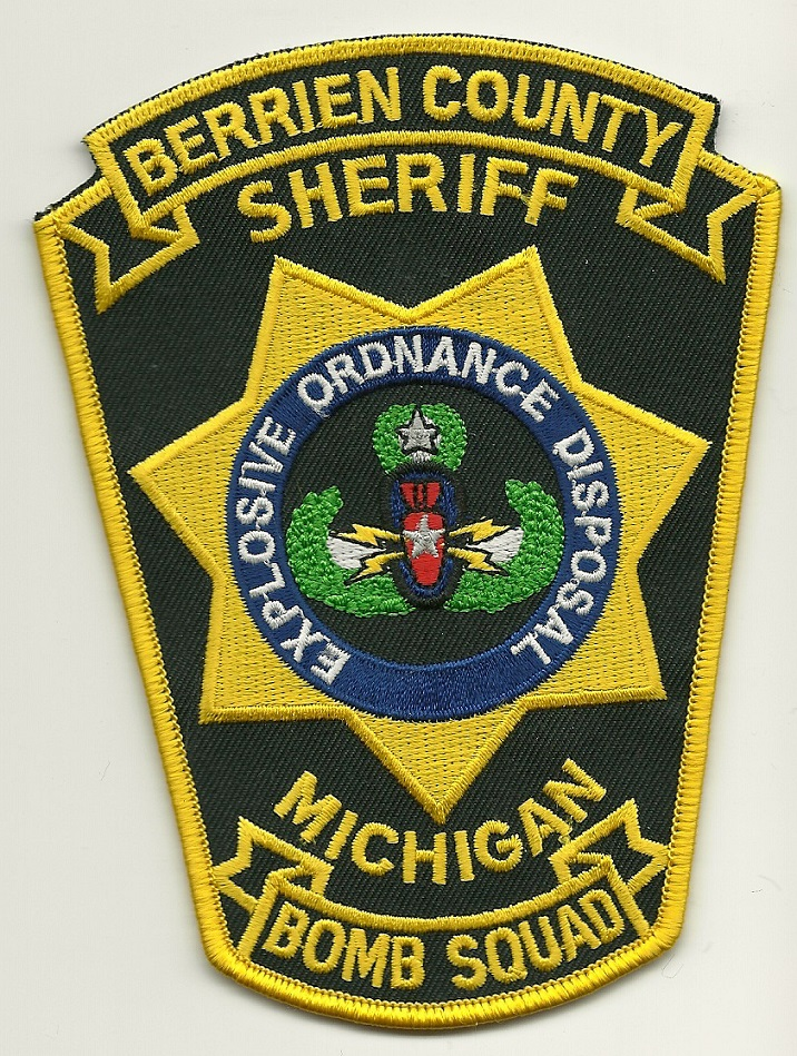Berrien County Sheriff EOD Bomb Squad Michigan patch