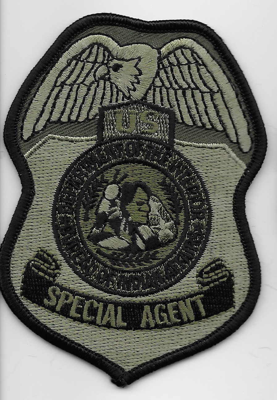 BIA Special Agent patch Tribal Police SWAT