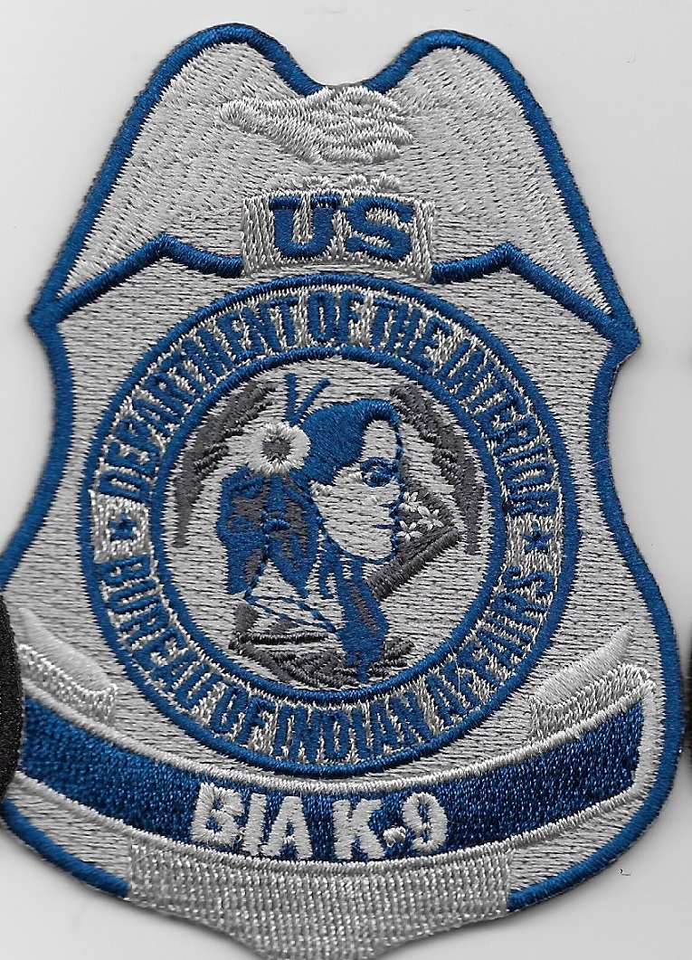 BIA Bureau Indian Affairs k9 patch Blue