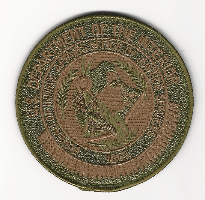 Bureau Indian Affairs SWAT SRT Tribal patch