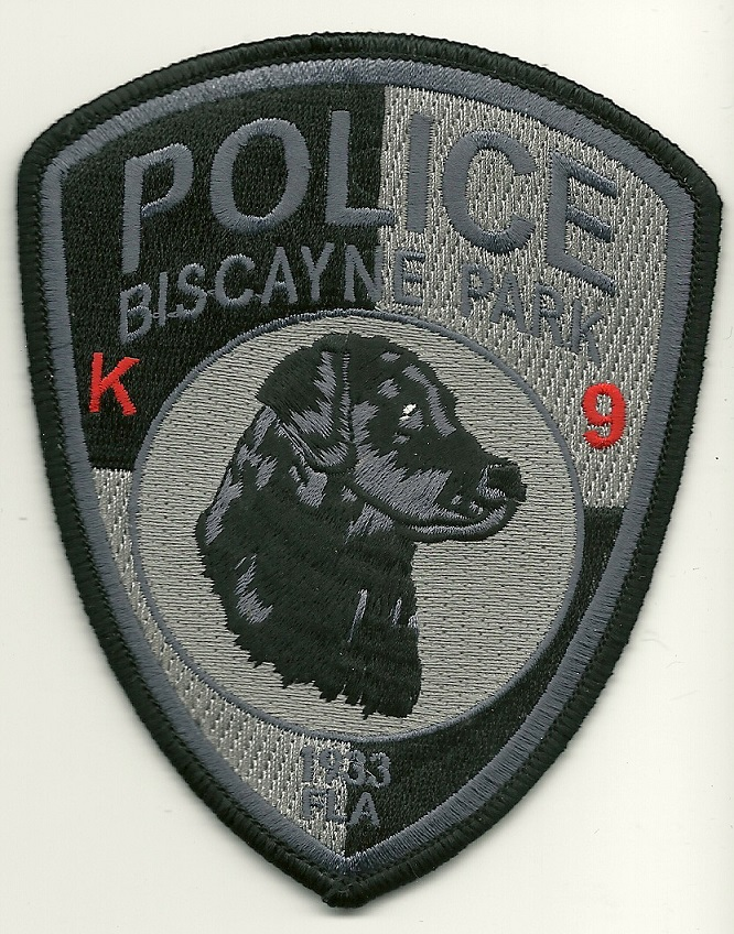 Biscayne Park POlice k9 k-9 patch State Florida FL patch