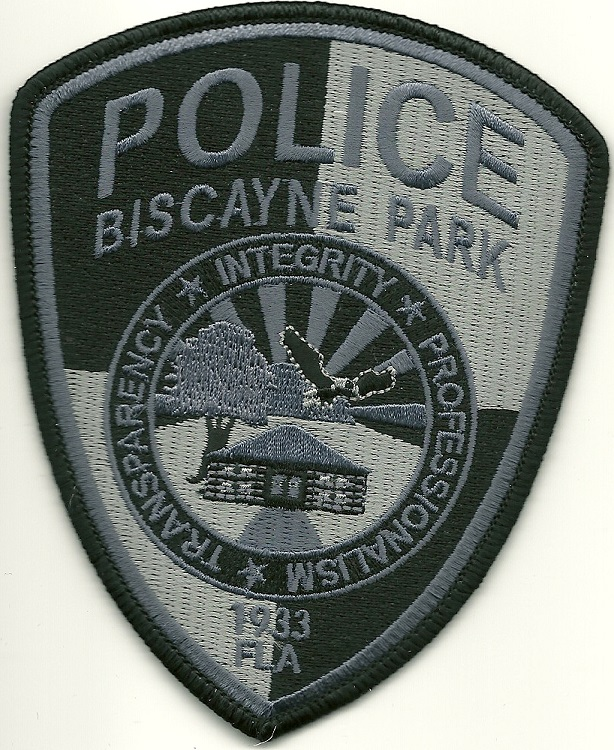 Biscayne Park POlice Subdued patch State Florida FL patch