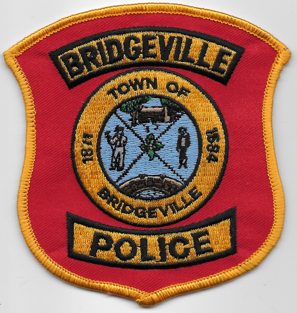 Bridgeville POlice Delaware RED patch
