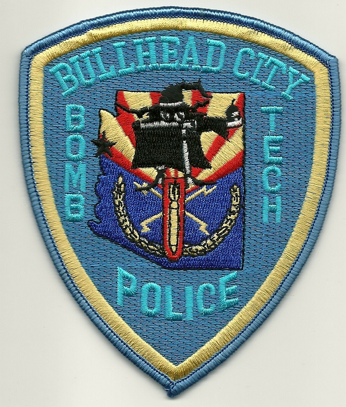 Bullhead City Police Bomb Squad shoulder patch