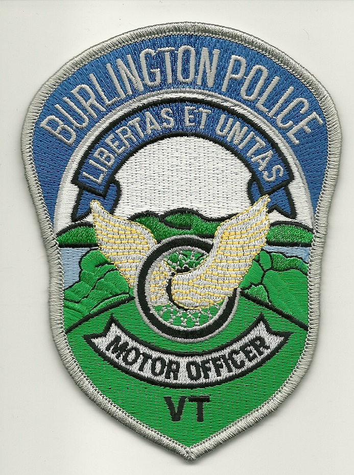 Burlington POlice Motors State Vermont VT patch