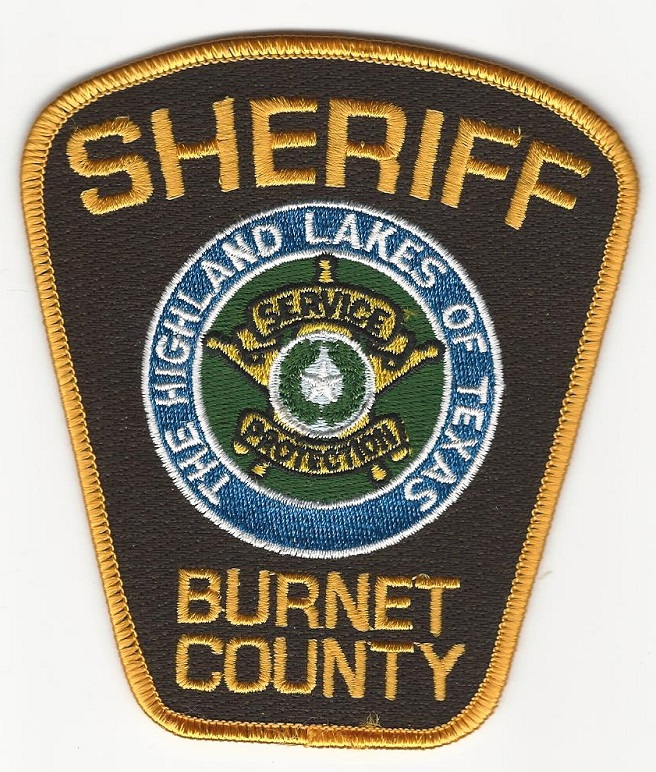 Burnet County Sheriff Brown & Yellow patch