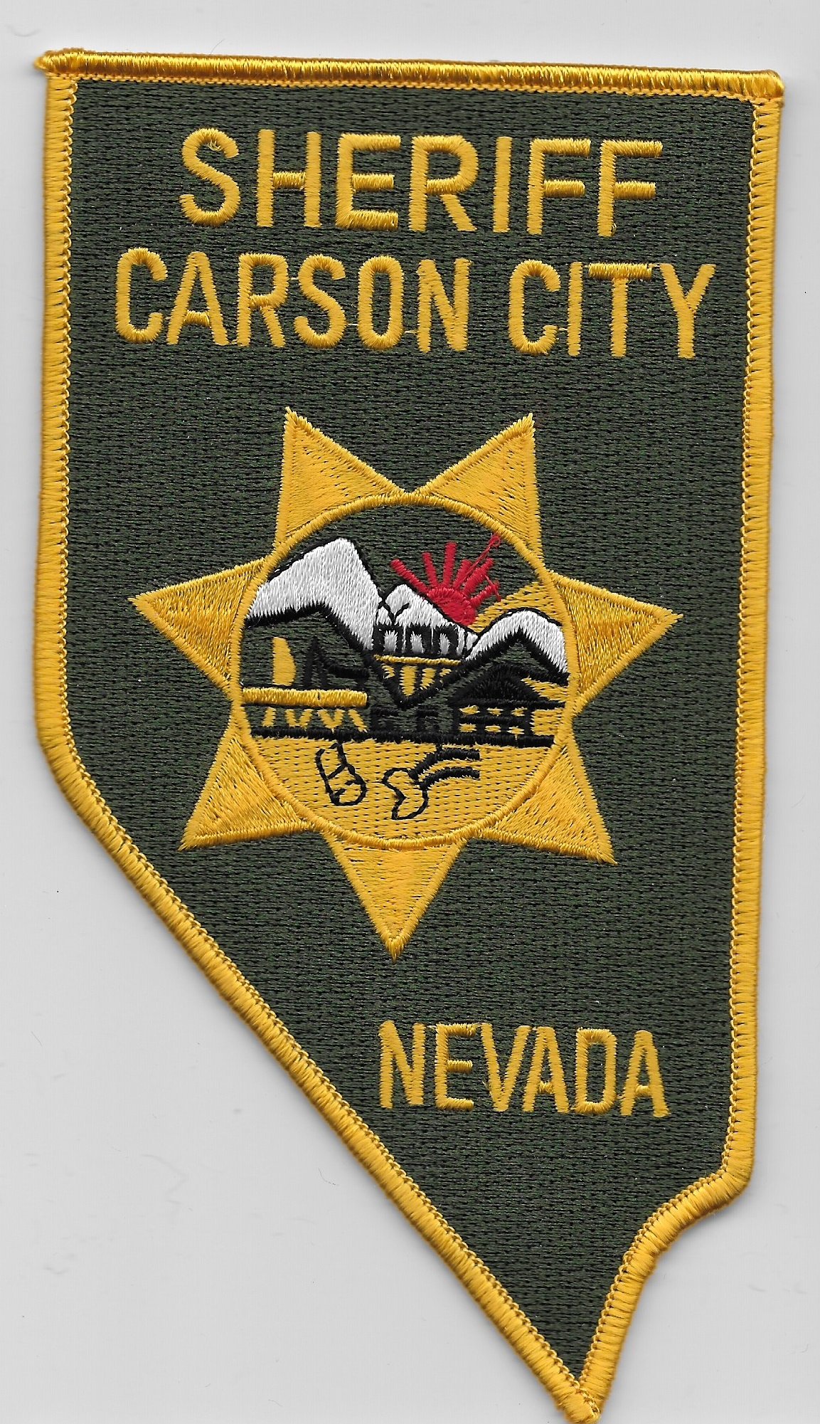 Carson City Sheriff NV State Shaped