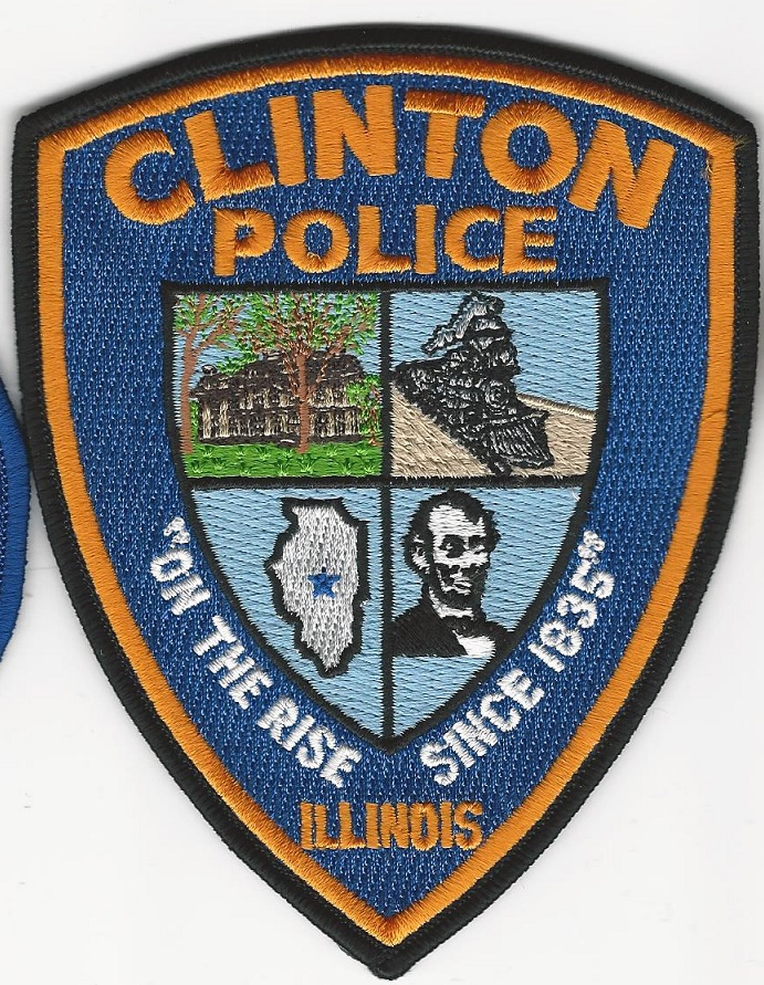 Clinton POlice State Illinois IL shoulder patch (TRAIN)