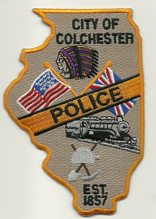 Colchester Police IL State Shaped Train