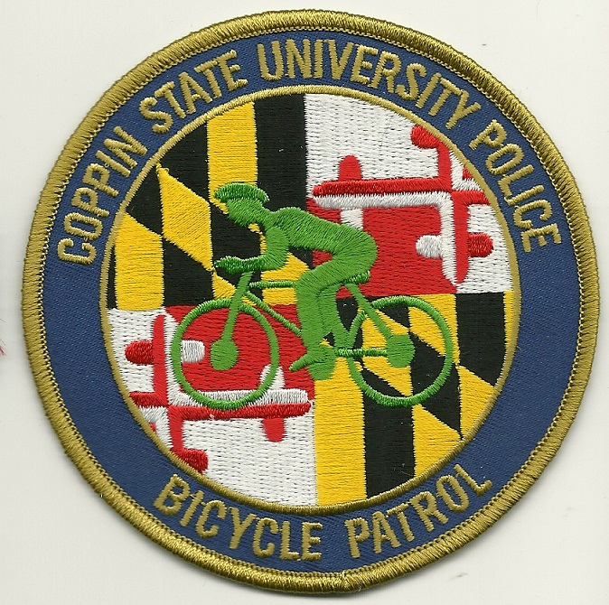 Coppin State University Bike Unit Police patch Maryland MD