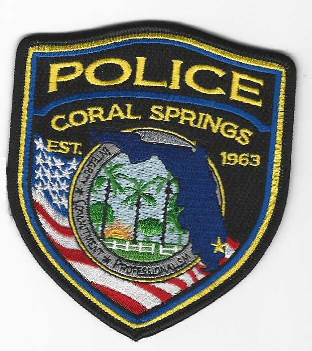 Coral Springs POlice patch NEW