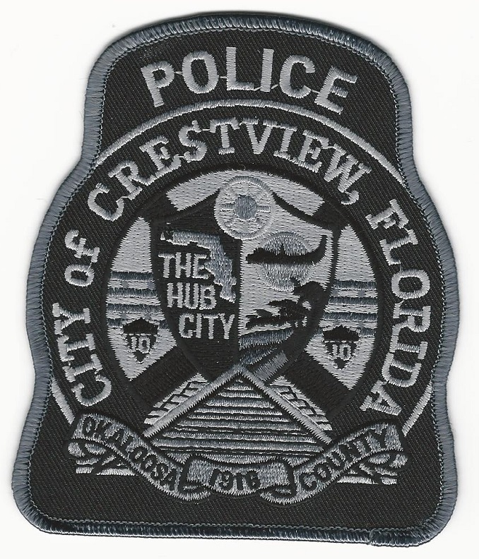 Crestview Police Florida FL Subdued Black