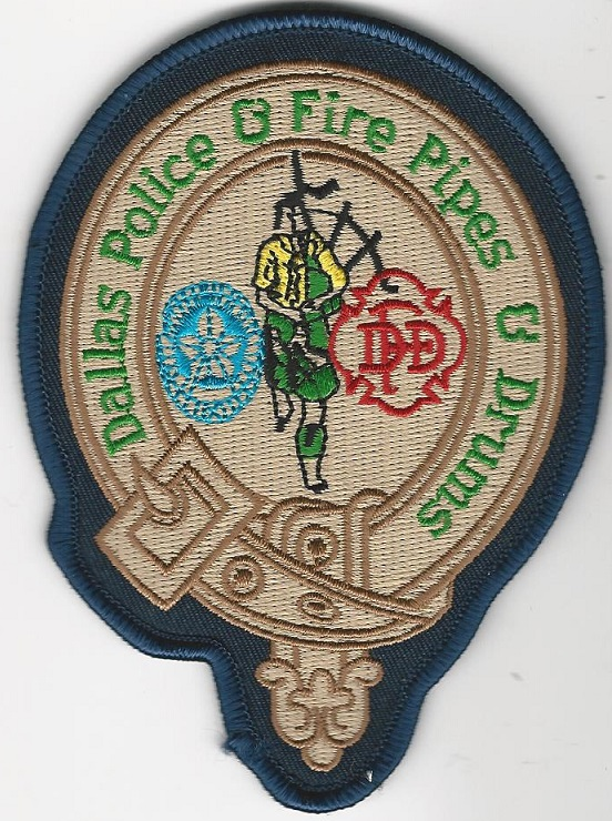 Dallas POlice & Fire Pipes & Drums patch older