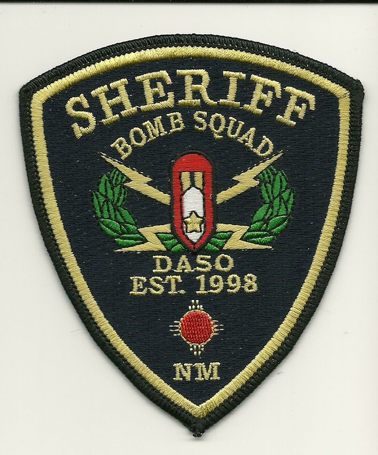 Dona Ana County Sheriff Bomb Squad patch New Mexico EOD BLUE