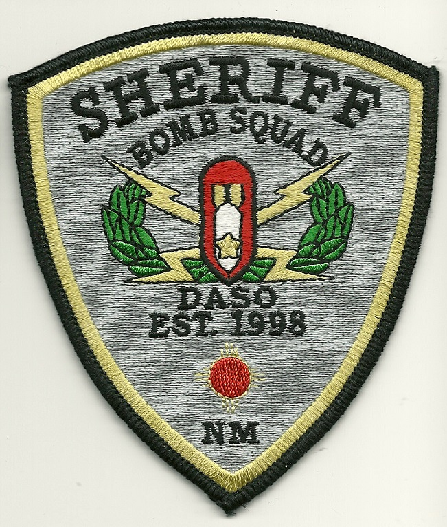 Dona Ana County Sheriff Bomb Squad Gray patch New Mexico EOD