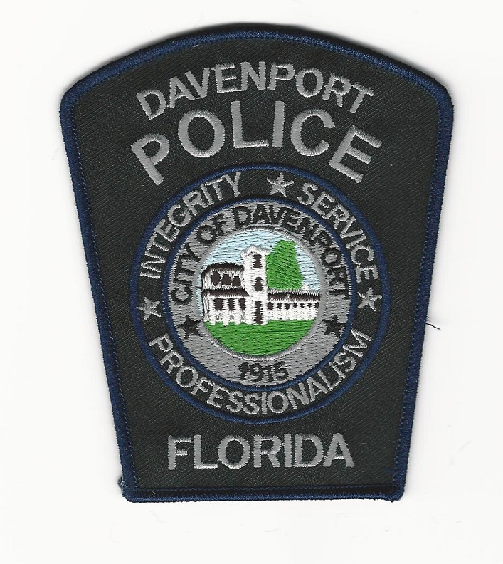 Davenport Police State Florida  NEW STYLE