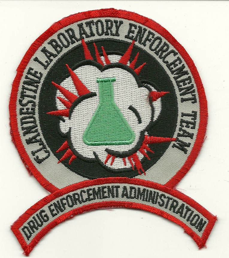 DEA Clandestine Lab Enforcement Team Narcotics patch