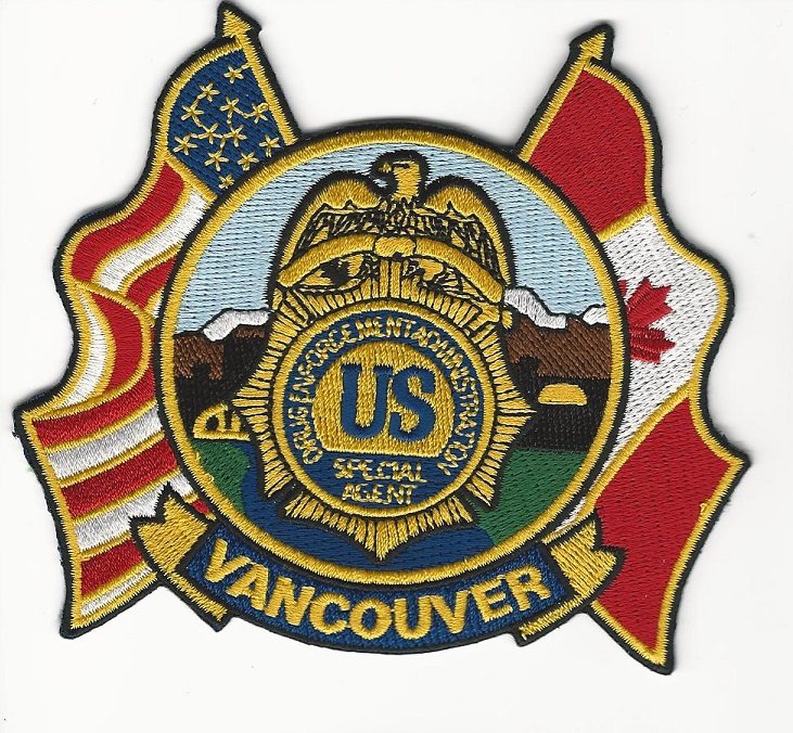 DEA Vancouver Canada & US patch Flags