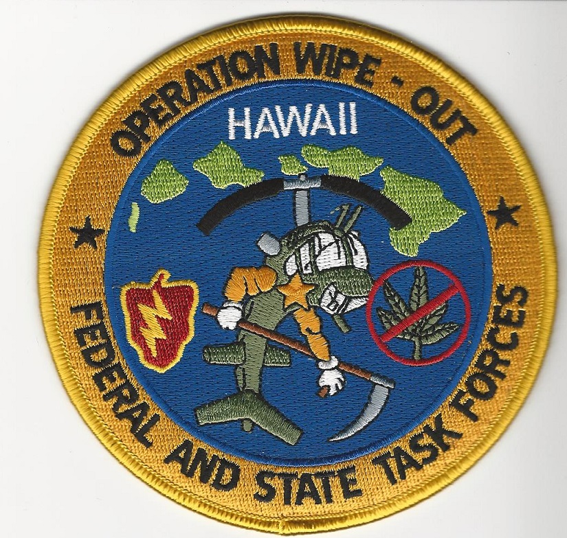 DEA Hawaii Narcotics Eradication OP Wipeout