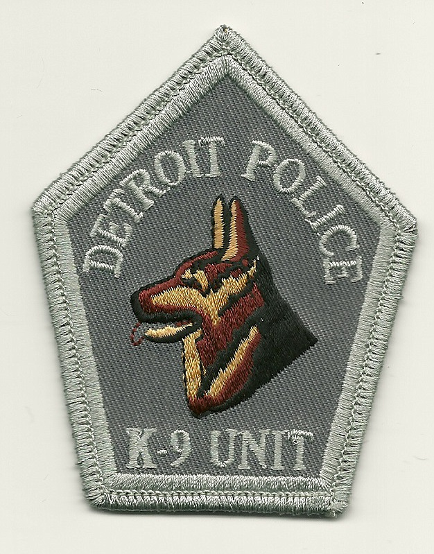 Detroit POlice k9 k-9 Patch Michigan MI