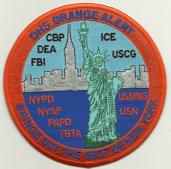 FBI DEA New York State Police Orange Alert