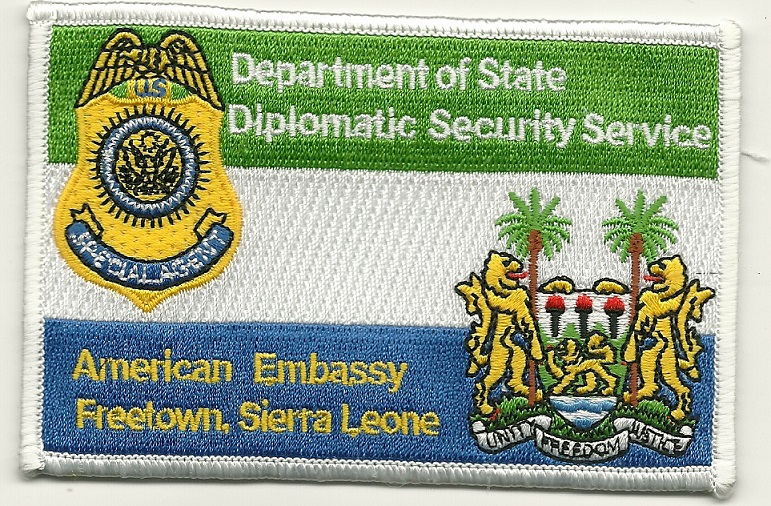 Diplomatic Security Sierral Leone US Embassy patch